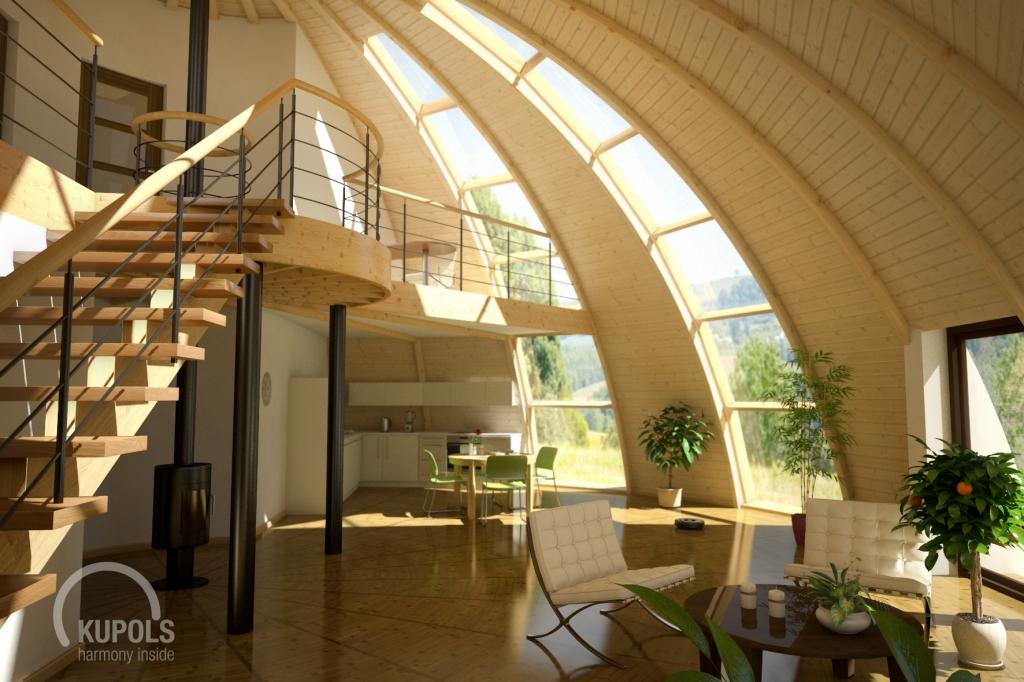 Kupola ģimenes māja (kupolmāja) - harmoniska dzīves vide
