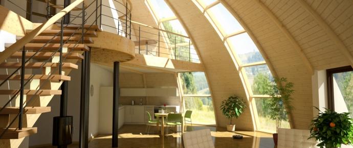 Kupola ģimenes māja - harmoniska dzīves vide